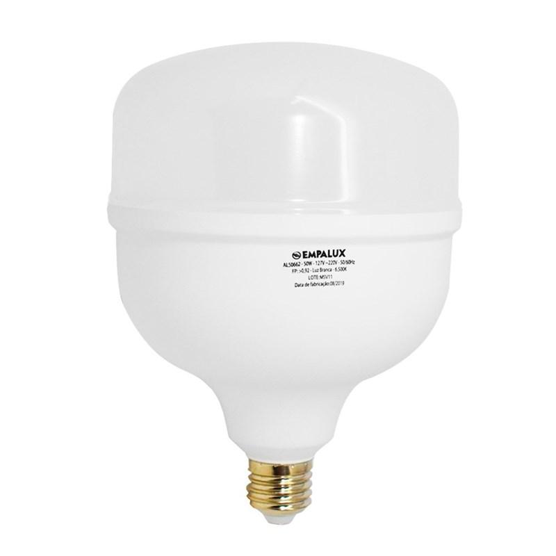 Lâmpada Alta Potência LED 50W Luz Branco Frio Bivolt E27 Empalux