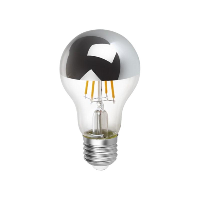 Lâmpada Bulbo Espelhada Filamento LED 4W Luz Âmbar Bivolt E27 Save Energy