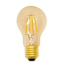 Lâmpada Bulbo Filamento LED 4W Âmbar 127V E27 Luminatti