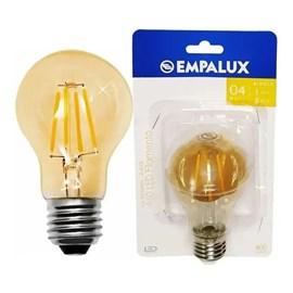 Lâmpada Bulbo Filamento LED 4W Luz Branco Quente Bivolt E27 Empalux