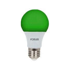 Lâmpada Bulbo LED 7W Luz Verde Bivolt E27 Foxlux