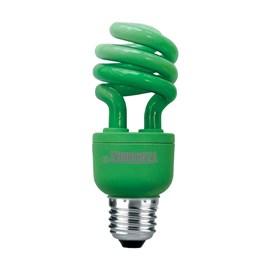 Lâmpada Espiral Verde 26W 127V Taschibra