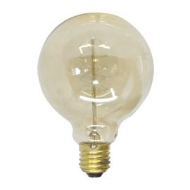 Lâmpada Filamento de Carbono Luz Âmbar G95 40W E27 127V Starlux