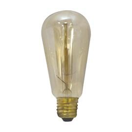 Lâmpada Filamento de Carbono Luz Âmbar ST64 40W E27 127V Starlux