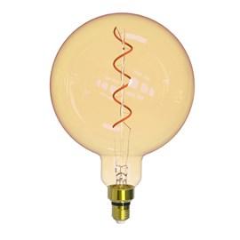 Lâmpada Filamento Giant Globo LED 4W Luz Âmbar Bivolt E27 Taschibra