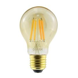 Lâmpada Filamento LED A60 Dimerizável Vintage Fosca 7W Luz Branco Quente 127v Osram