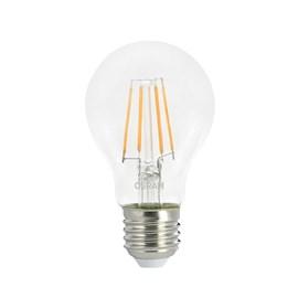 Lâmpada Filamento LED A60 Vintage Clara 7W Luz Branco Quente Bivolt Osram
