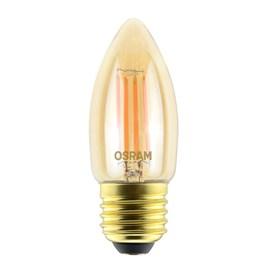 Lâmpada Filamento LED Vela Dimerizável Vintage Fosca 4.5W Luz Branco Quente 127v Osram