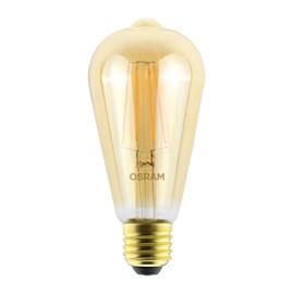 Lâmpada Filamento Pera LED 4,5W Luz Branco Quente Bivolt E27 Osram