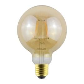 Lâmpada Filamento Vintage Globe 1906 LED 2,5W Luz Âmbar Bivolt Osram