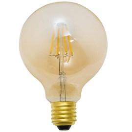 Lâmpada LED Balloon Filamento 4W Âmbar 127V Luminatti