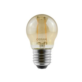 Lâmpada LED Bolinha Filamento 2,5W Luz Âmbar Bivolt Osram