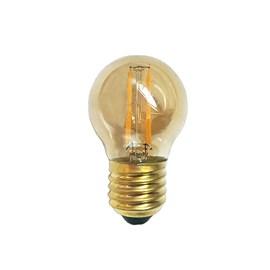 Lâmpada LED Bolinha Filamento 2W E27 Luz Âmbar Bivolt Luminatti