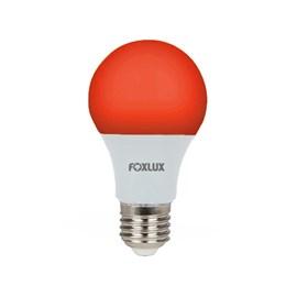 Lâmpada LED Bulbo 7W Luz Vermelha Bivolt Foxlux