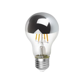 Lâmpada LED Bulbo Espelhada Filamento 4W E27 Luz Âmbar Bivolt Save Energy