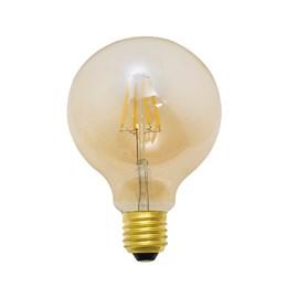 Lâmpada LED Mini Baloon Filamento 4W Luz Âmbar Bivolt Luminatti