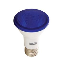 Lâmpada LED PAR 20 6W Luz Azul Bivolt Luminatti