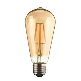 Lâmpada LED Pera Filamento 4W Luz Âmbar Bivolt Luminatti
