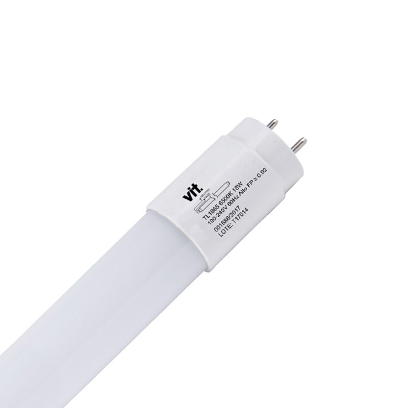 Lâmpada LED Tubular 18W Luz Branca Bivolt VIT