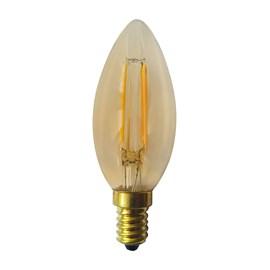 Lâmpada LED Vela Filamento 2W Âmbar 127V Luminatti
