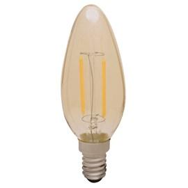 Lâmpada LED Vela Filamento 2W E14 Luz Branco Quente Empalux