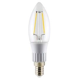 Lâmpada LED Vela Filamento 3W E14 Luz Amarela Bivolt Ourolux