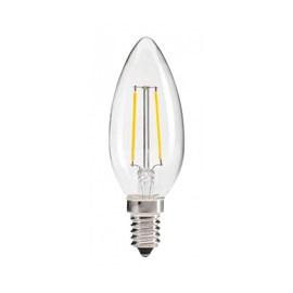 Lâmpada LED Vela Filamento 4W E14 Luz Amarela 127V Golden