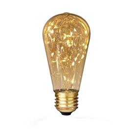 Lâmpada Pera Fio de Fada LED 1,5W Luz Âmbar Bivolt E27 Starlux