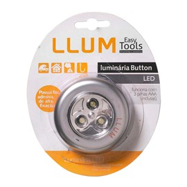 Luminária Button LED 0,3W Prata Bronzearte
