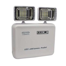 Luminária de Emergência LED 1200 Lumens e 2 Faróis Segurimax