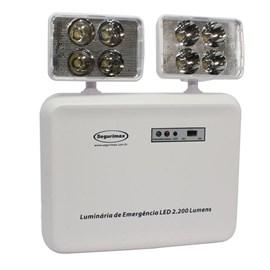 Luminária de Emergência LED 2200 Lumens e 2 Faróis Segurimax