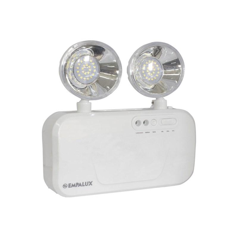 Luminária de Emergência LED 3000 Lumens e 2 Faróis Empalux