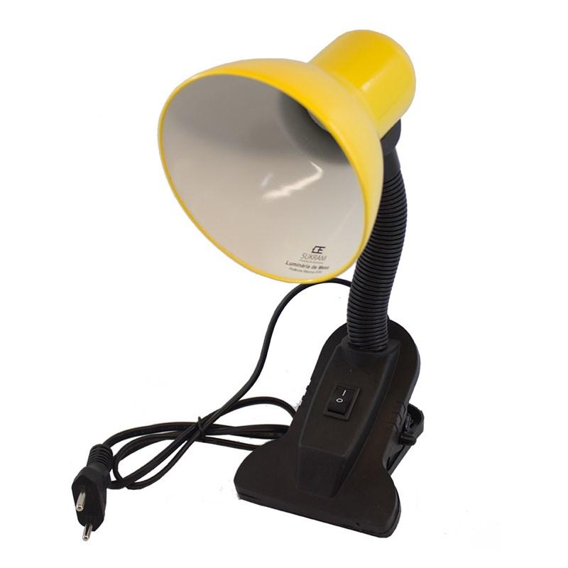 Luminária De Mesa  Amarela C/Garra Eletroexpress