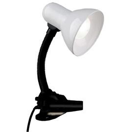 Luminária de Mesa Branca com Garra Eletroexpress