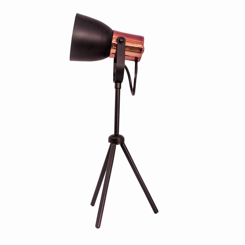 Luminária de Mesa City Preto com Cobre Spotline