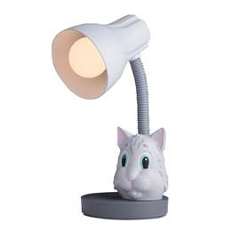 Luminária de Mesa Gato Cinza Startec