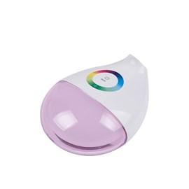 Luminária de Mesa LED Touch Branco com Visor RGB 5W Luz Amarela Bivolt Luminatti