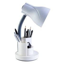 Luminária de Mesa Spiralle Branco Porta Lápis E27 Bivolt Startec