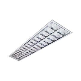 Luminária Embutir Tubular 2 Lâmpadas Retangular 60cm Alumínio Lumepetro
