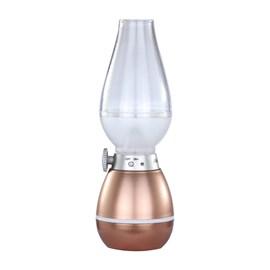 Luminária Lampião LED Regarregável Luz Amarela Avant