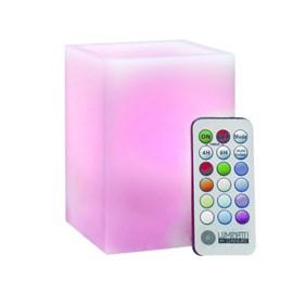 Luminária LED Vela Decorativa Box RGB Quadrado com Controle Luminatti