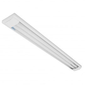 Luminária Sobrepor Tubular 2 Lâmpadas Retangular 120cm Alumínio Lumepetro