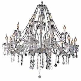 Lustre Cristal 21 Lâmpadas Maria Thereza Transparente Arquitetizze
