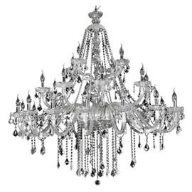 Lustre Cristal 28 Lâmpadas Maria Thereza Transparente Arquitetizze