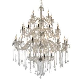 Lustre Cristal 36 Lâmpadas Maria Thereza Transparente Arquitetizze