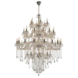 Lustre Cristal 42 Lâmpadas Maria Thereza Transparente Arquitetizze