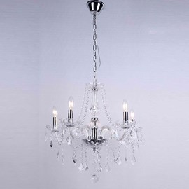 Lustre Cristal 5 Lâmpadas Maria Thereza Transparente Arquitetizze