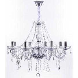 Lustre Cristal Transparente 8 Lâmpadas Maria Thereza Arquitetizze