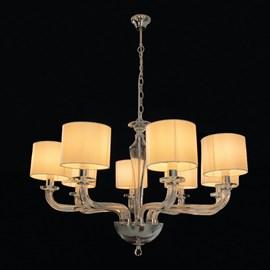 Lustre Cristal Transparente com Cúpulas 8 Lâmpadas Eletrorastro