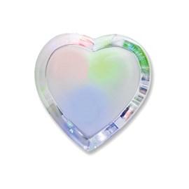 Luz Noturna LED Coração RGB 0,3W Com Interruptor Bronzearte